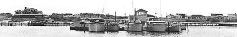 1953 Cerry Grove marina large scale panoramic print