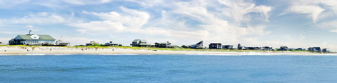 Ocean view of the Fire Island  Casino