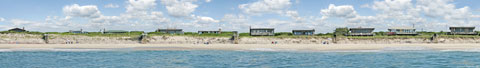 Panorama of Fire Island beach part 1