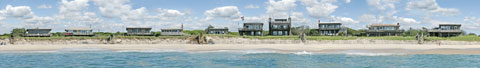 multi image panorama of the Fire Island Pines.