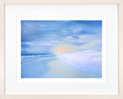 white natural wood gallery art frame